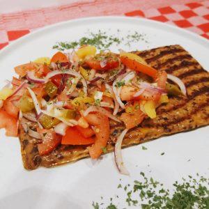 ZwamBoon maaltijdplak met salsa